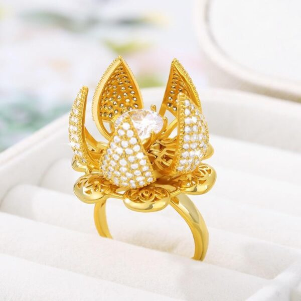 Blooming Flower Ring (Gold Plating) - Avanti-eStore