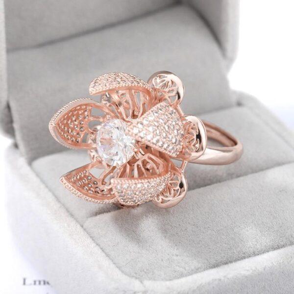 Blooming Flower Ring (Rose Gold Plating)- Avanti-eStore