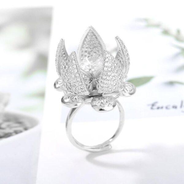 Blooming Flower Ring (Platinum Plating) - Avanti-eStore