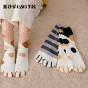 Cute Cat Paw Socks: It's Perfect to Keep Your Feet Warm During Winter!