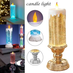Christmas LED Glitter Candle