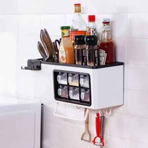 Wall Mounted Kitchen Spice Organizer: It Allows You to Organize All Spices in 1 Place!