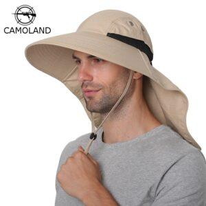 Best Mens Sun Hat: It Comes with Neck Flap & Large Wide Brim!