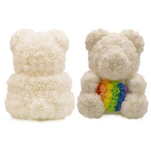 Rose Teddy Bear with Heart