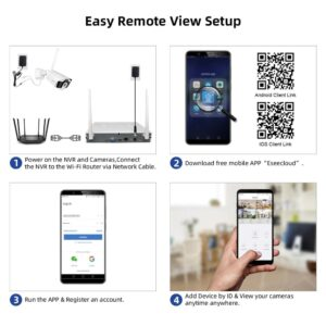 Wireless Home Security System: Ideal for Home & Office with Real-time Video on Smartphones!