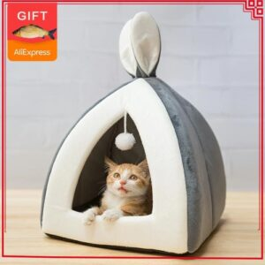 Beautiful Igloo Cat Bed: It Keeps Your Cat Cozy and Warm!