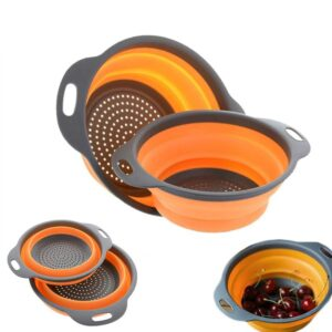 Collapsible Colander: A Magical 2-Handle Veggie & Fruit Strainer!