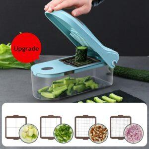 Best 8 in 1 Vegetable Chopper: Use It to Chop, Slice, Peel, Grate, Mash, & More!