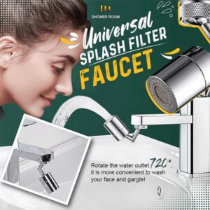 No Splash Faucet: Perfect to Wash Your Face & Gargle You Mouth Any Way You Want!