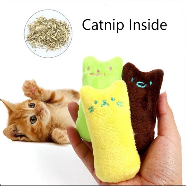 Teeth Grinding Catnip Toys Funny Interactive Plush Cat Toy Pet Kitten Chewing Vocal Toy Claws Thumb 1