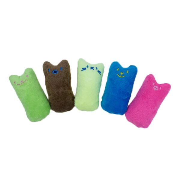 Teeth Grinding Catnip Toys Funny Interactive Plush Cat Toy Pet Kitten Chewing Vocal Toy Claws Thumb 2