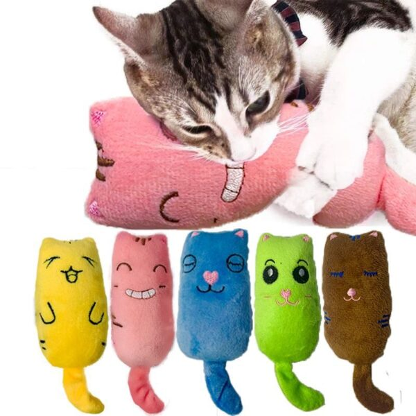 Teeth Grinding Catnip Toys Funny Interactive Plush Cat Toy Pet Kitten Chewing Vocal Toy Claws Thumb 4
