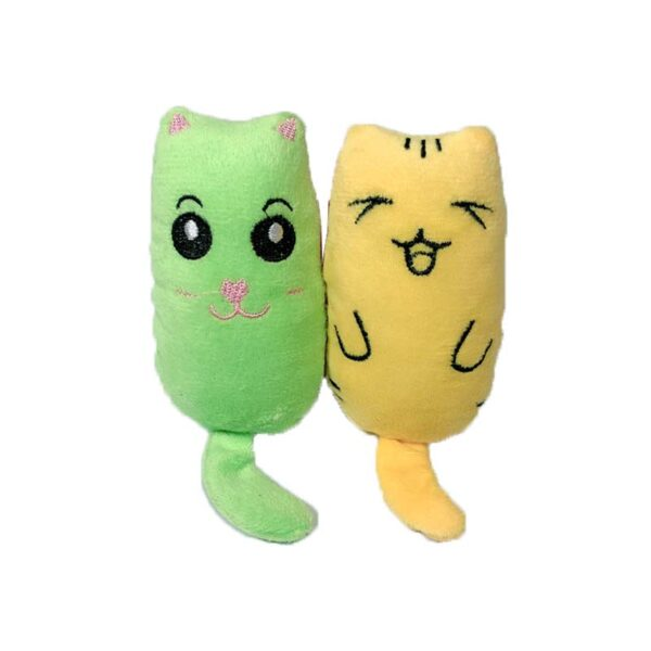 Teeth Grinding Catnip Toys Funny Interactive Plush Cat Toy Pet Kitten Chewing Vocal Toy Claws Thumb 5