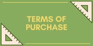 Terms of Purchase - Avanti-eStore