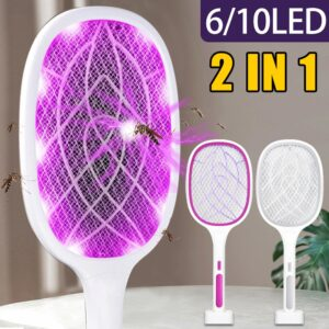Best 2 in 1 Bug Zapper Racket: Gets Rid of Flies, Bugs, Insects & Mosquitoes Fast!