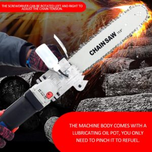 Angle Grinder Chainsaw Set: It's Easy to Convert a Grinder to a Chainsaw for Minor DIY Work!