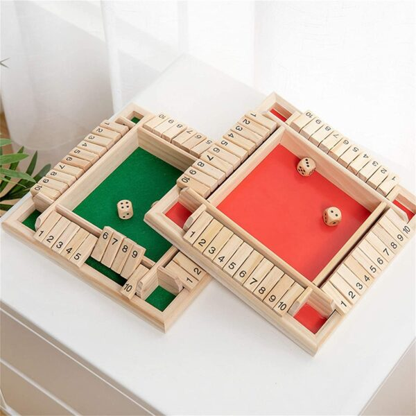 Four Sided Flop Games Digital Wooden Board Game Fun Family Parent Child Game Party Travel Learning 1