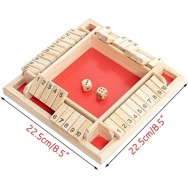 Four Sided Flop Games Digital Wooden Board Game Fun Family Parent Child Game Party Travel Learning 2