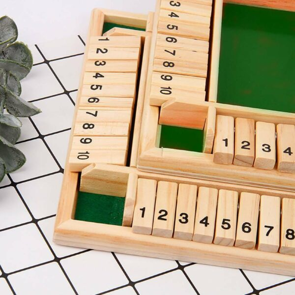Four Sided Flop Games Digital Wooden Board Game Fun Family Parent Child Game Party Travel Learning 3