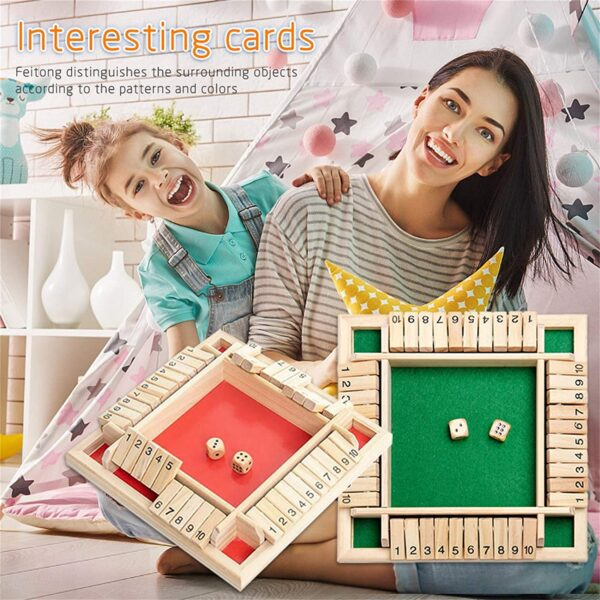 Four Sided Flop Games Digital Wooden Board Game Fun Family Parent Child Game Party Travel Learning 5