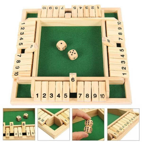 Four Sided Flop Games Digital Wooden Board Game Fun Family Parent Child Game Party Travel Learning