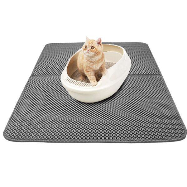 Pet Cat Litter Mat Double Layer Litter Cat Bed Pads Trapping Pets Litter Box Mat Pet 1