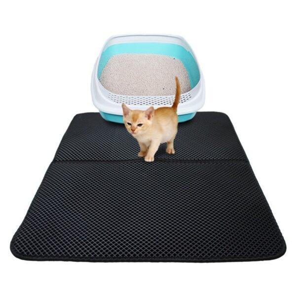 Pet Cat Litter Mat Double Layer Litter Cat Bed Pads Trapping Pets Litter Box Mat Pet 2