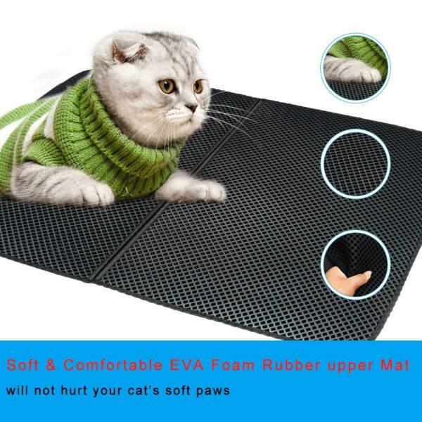 Pet Cat Litter Mat Double Layer Litter Cat Bed Pads Trapping Pets Litter Box Mat Pet 4