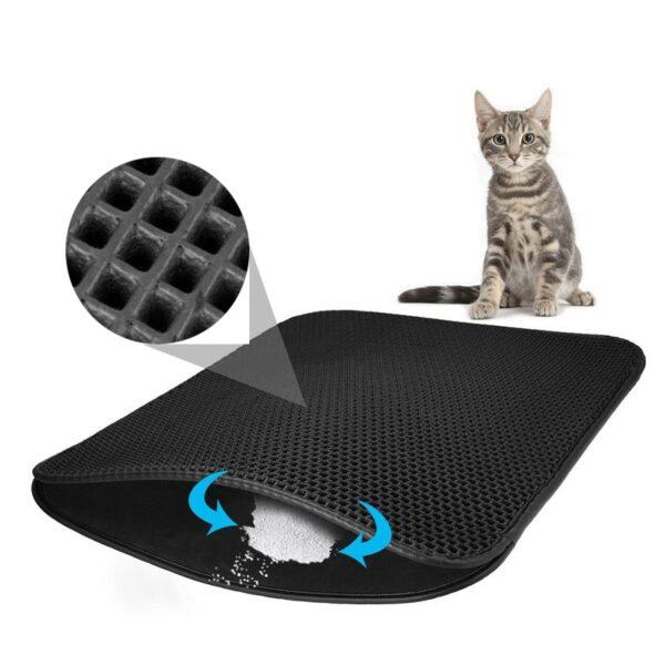 Pet Cat Litter Mat Double Layer Litter Cat Bed Pads Trapping Pets Litter Box Mat Pet